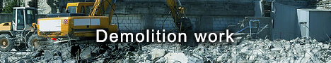 Demolition works